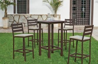 Table de bar TROPEA en aluminium – tabouret de bar TROPEA en aluminium