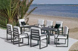Table ZAFIRO en aluminium – Bridge ZAFIRO en aluminium
