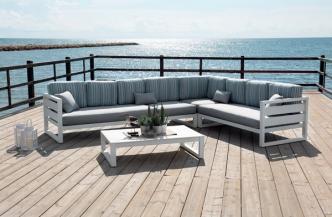 Canapé d'angle COSMOS en aluminium