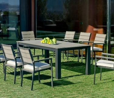 Table SORACUL en aluminium et plateau polywood – Bridge de table SORACUL en aluminium et polywood