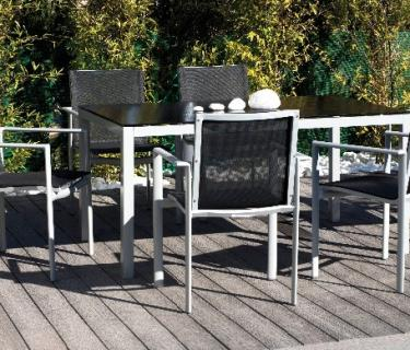 Table MAURICE en aluminium – Bridge de table MAURICE en aluminium