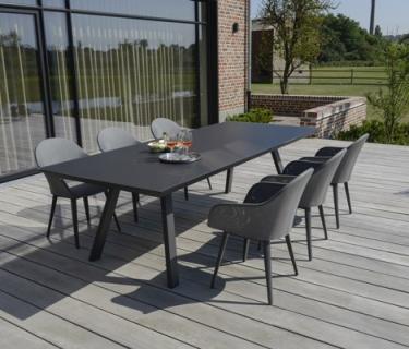Table VERSACE en aluminium – Bridge de table CARENTO