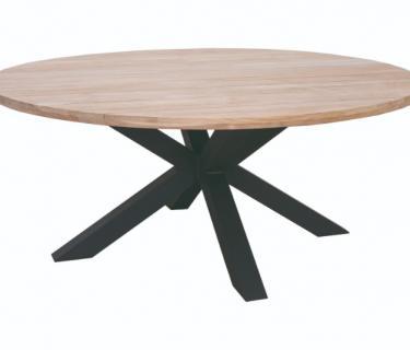 TABLE FELINE RONDE PLATEAU TECK