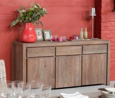 Buffet 3 portes-3 tiroirs en tek recyclé DRIFT