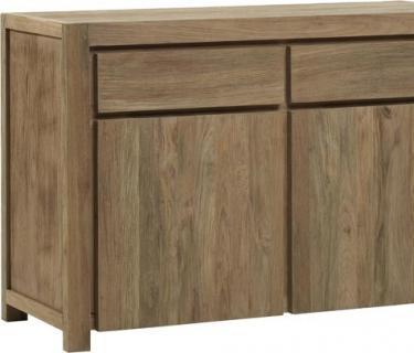 Buffet 2 portes-2 tiroirs en tek recyclé DRIFT