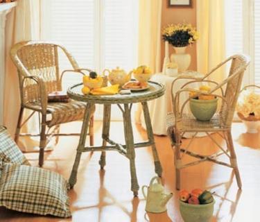 Fauteuil 3002 en rotin - Canapé 2 places 3002 en rotin - Table basse 3002 en rotin