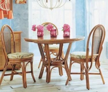 Chaise 3005 en rotin – Table 561 en rotin