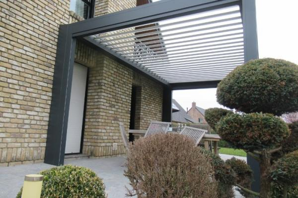 Pergola bioclimatique + Store de terrasse - Nieppe